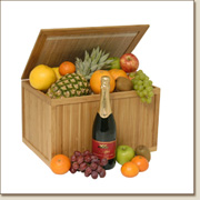 luxury fruit hamper with fizz FB17