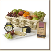 fruit basket with cheese and crackers FB18
