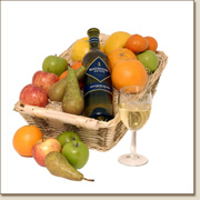 fruit basket with white wine  FB19