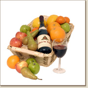 fruit basket with red wine FB20
